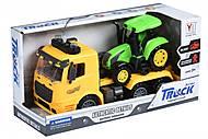 Тягач желтый с трактором, свет и звук, 98-613AUt-1, отзывы