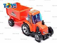 Уценка Детский трактор, с прицепом, FD605A