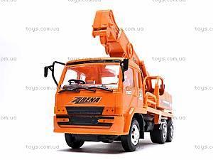 Оранжевая инерционная машинка «Стройка», 2016, цена