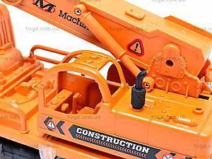Оранжевая инерционная машинка «Стройка», 2016, игрушки