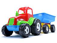 Уценка Трактор с прицепом для детей, 07-709, детские игрушки