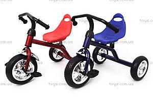 Уценка Велосипед трехколесный со стальной рамой, QAT-T001КР/СИ