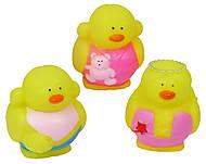 Резиновые игрушки «Уточки-модницы», 57053