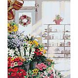 В цветочном магазине, картина, КНО2023, фото