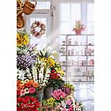 В цветочном магазине, раскрашивание по номерам, КН2023