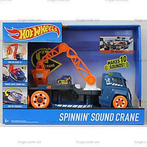 Грузовик с краном со звуковыми и световыми эффектами Hot Wheels, DJC69