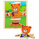 Деревянный вкладыш «Медвежонок», Д181а, іграшки