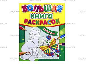 Большая книга раскрасок «Животные», К16080РК207007Р, цена