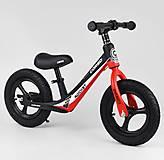 """Велобег колеса 12"""" надувные, магниевая рама, подножка, красный, 67689, оптом"""