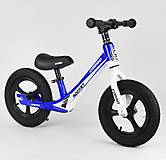 """Велобег колеса 12"""" надувные, магниевая рама, подножка, синий, 91649, опт"""