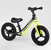 """Велобег колеса 12"""" надувные, магниевая рама, подножка, желтый, 63181, интернет магазин22 игрушки Украина"""