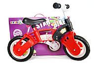 Велобег STAR BIKE, красно-черный, 11-012 КЧ, toys.com.ua