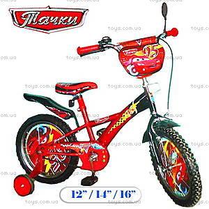 Велосипед 16 дюймов «Тачки», 111604