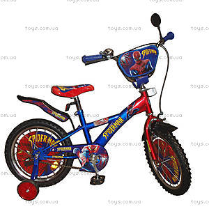 Велосипед 2-х колесный Spiderman, со звонком, 131805