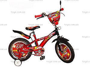 Велосипед 2-х колесный «Тачки» с зеркалом, 131411