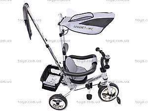 Велосипед 3-колёсный, серый, XG18919-T12-1, toys.com.ua