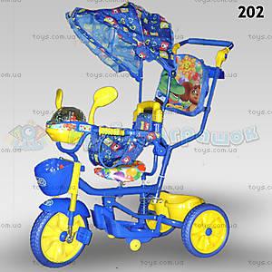 Велосипед «Чебурашка», синий, 202