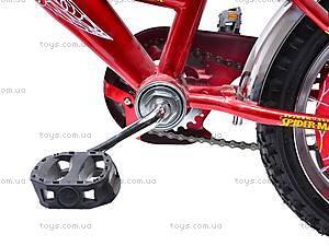 Велосипед «Человек Паук», красно-черный, 14SM RED-BLAC, магазин игрушек