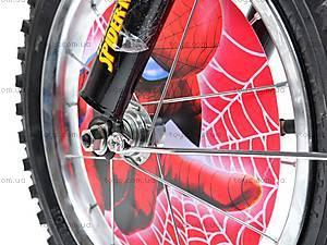 Велосипед «Человек Паук», красно-черный, 14SM RED-BLAC, toys