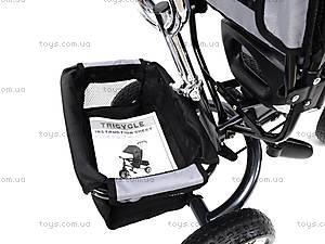 Велосипед детский с бампером, серый, XG18919-T16-5, детские игрушки