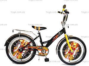 Велосипед «Хот Вилс», черный с желтым, BT-CB-0012