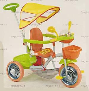 Велосипед Lux, оранжево-зеленый, 4061