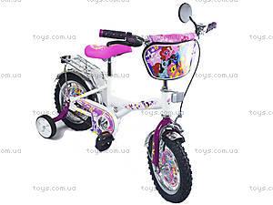 Велосипед «Маленькие пони», белый с малиновым, BT-CB-0019, купить