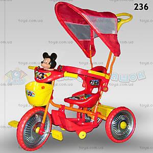 Велосипед «Микки Маус», красный, 236