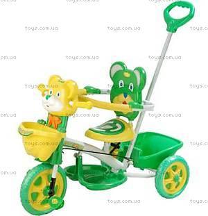 Велосипед «Мишка», желто-зеленый, 405