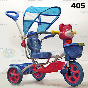 Велосипед «Мишка», красно-синий, 405