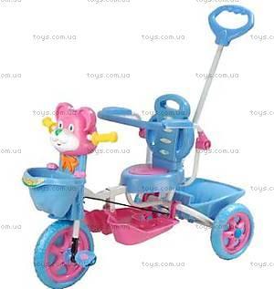 Велосипед «Мишка», сине-розовый, 404