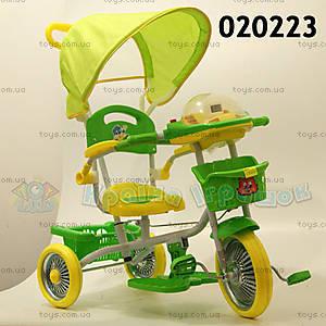 Велосипед музыкальный, желтый, 020223 ЗЕЛ