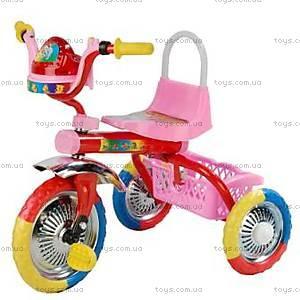 Велосипед музыкальный, розовый, 9102 РОЗ