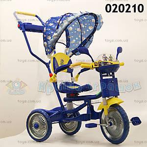 Велосипед музыкальный, синий, 020210 СИН