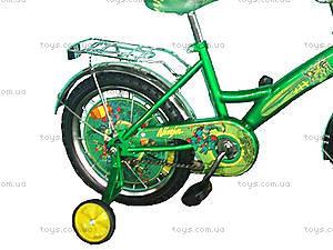Велосипед «Ниндзя черепашки», зеленый с желтым, BT-CB-0013, купить