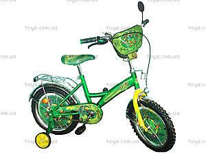 Велосипед «Ниндзя черепашки», зеленый с желтым, BT-CB-0013