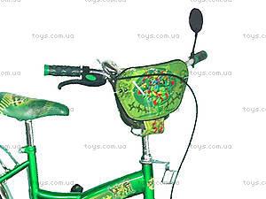 Велосипед «Ниндзя черепашки», зеленый с желтым, BT-CB-0013, фото