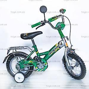 Велосипед «Орленок», 12 дюймов, зеленый, 101205
