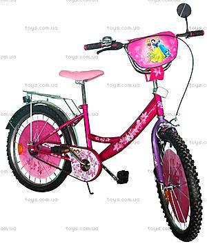 Велосипед «Принцессы», белый с сиреневым, BT-CB-0024