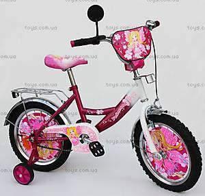Велосипед Принцессы, малиново-белый, 14DR CRIMSON-
