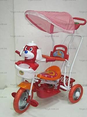 Велосипед с игрушкой, красный, 9004