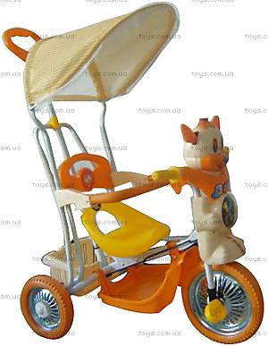 Велосипед с игрушкой, оранжевый, 1010