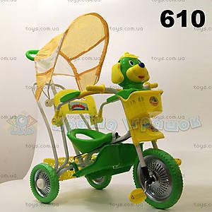 Велосипед с игрушкой, зеленый, 610