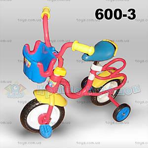 Велосипед с корзинкой, красный, 600-3
