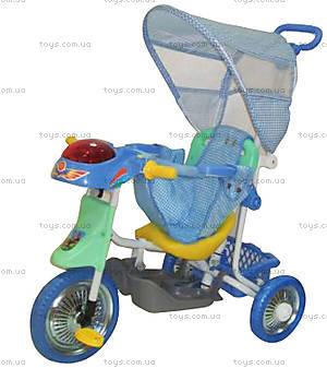 Велосипед с тентом, синий, 103