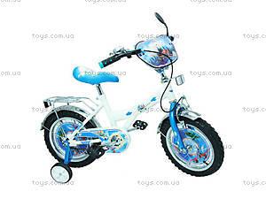 Велосипед «Самолеты», белый с голубым, BT-CB-0010
