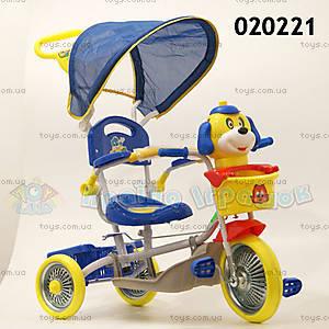 Велосипед «Собачка», синий, 020221 СИН