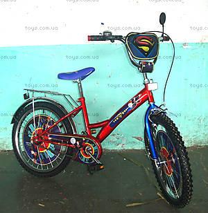 Велосипед «Супермен», синий с красным, BT-CB-0008