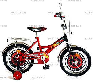 Велосипед «Тачки», черный с красным, BT-CB-0004, купить