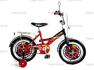 Велосипед «Тачки», черный с красным, BT-CB-0004